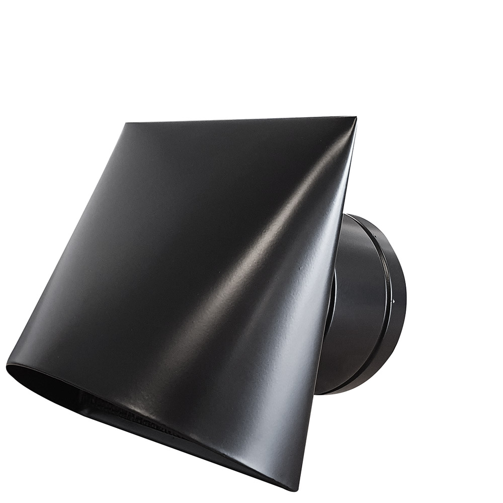 Zwart kaprooster met windbreker - RVS Blog